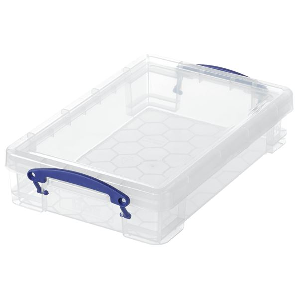 Really Useful Products Aufbewahrungsbox 4 l Transparent