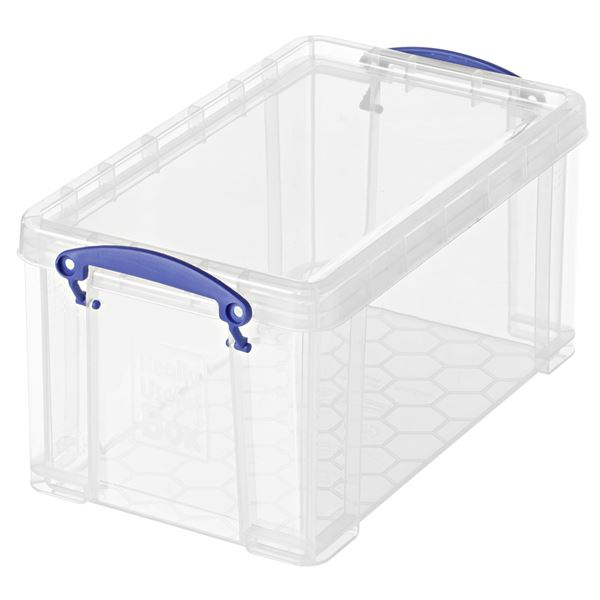 Really Useful Products Aufbewahrungsbox 8 l Transparent