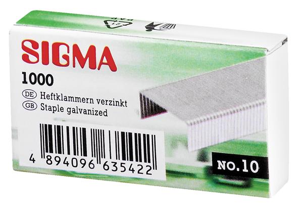 Sigma Heftklammern - 10 x 1000 Stück