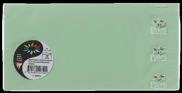 Pollen Briefumschläge Blau DIN Lang - 20 Stück