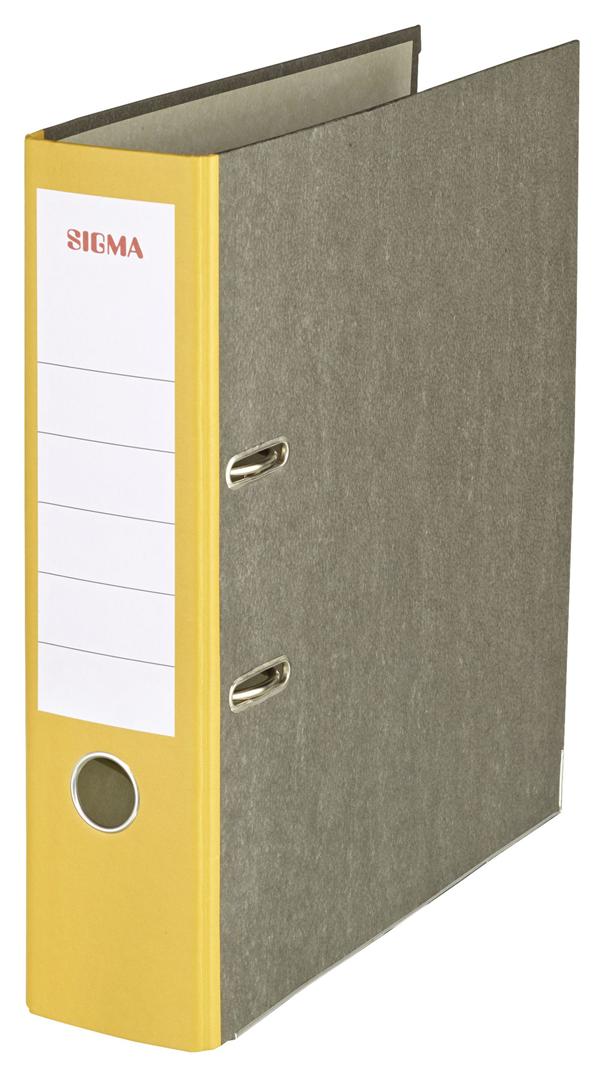 Sigma Ordner Wolkenmarmor Breit Gelb - 5 Stück