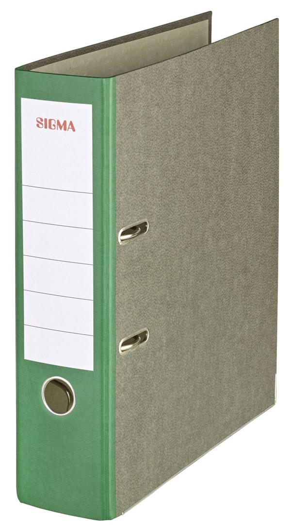 Sigma Ordner Wolkenmarmor Breit Grün - 5 Stück