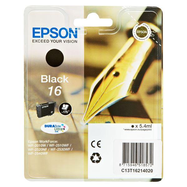 Epson Tintenpatrone T1621 Schwarz