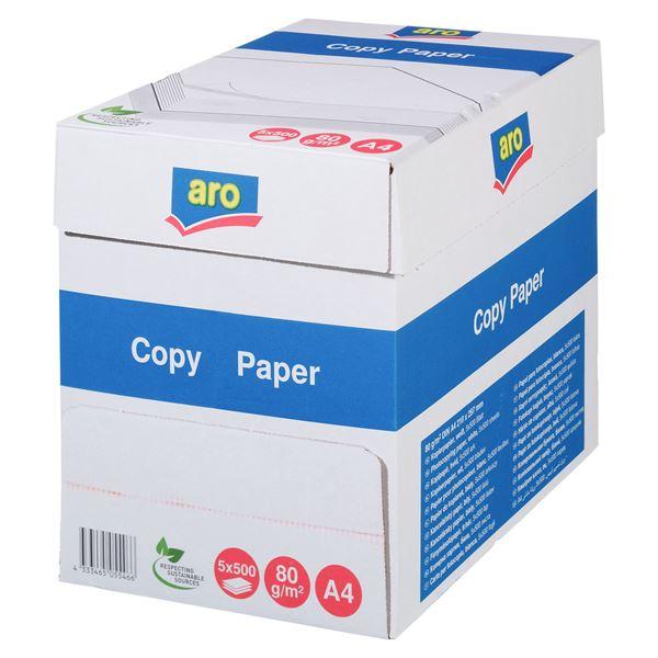 aro DIN A4 Kopierpapier 80 g/m² - 5 x 5 x 500 Blatt