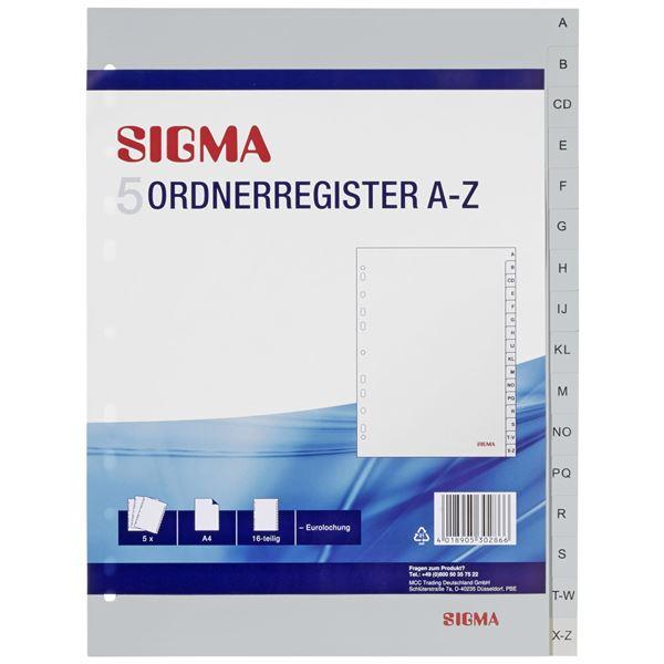 Sigma Ordnerregister A4 A-Z - 5 Stück