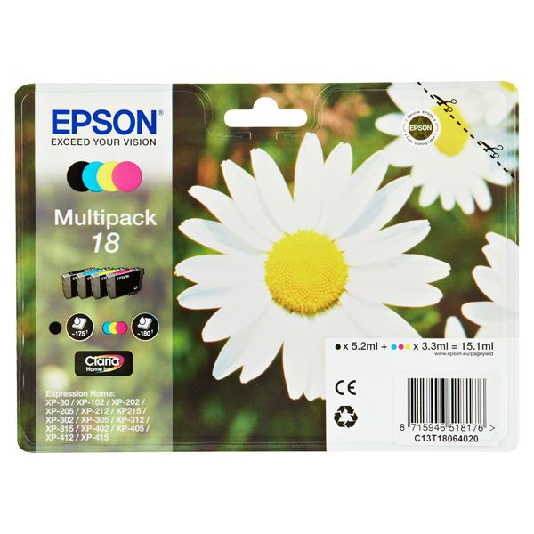 Epson Tintenpatrone T1806 Multipack