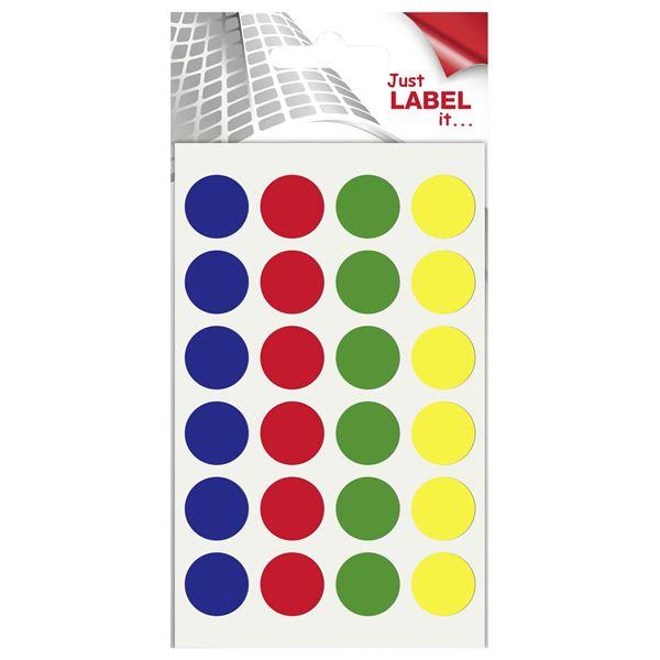 Wäsch Markierungspunkte Farbig sortiert - 96 Stück