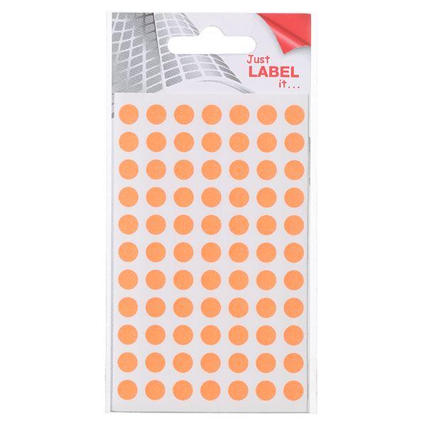 Wäsch Markierungspunkte Leuchtorange - 416 Stück
