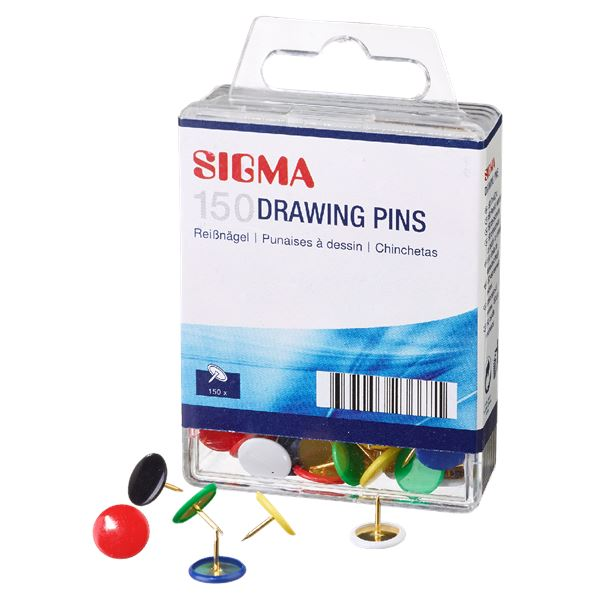 Sigma Reißnägel - 150 Stück