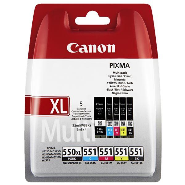 Canon Tintenpatronen PGI550 XL und CLI551