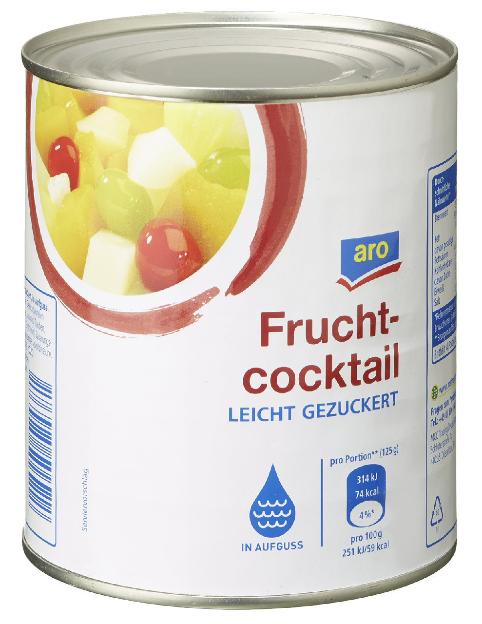 Fruchtcocktail dose