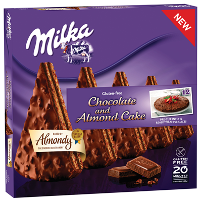 Metro De Almondy Milka Chocolate And Almond Cake Tiefgefroren 980 G