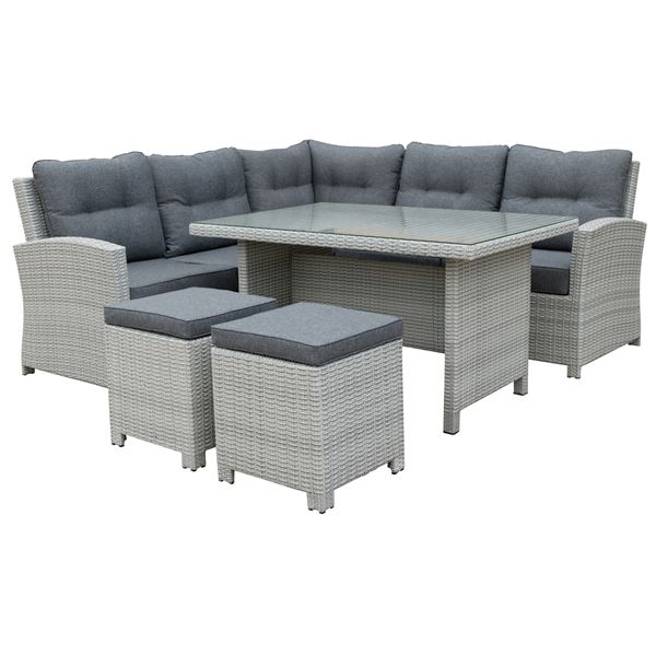 Tarrington House Lounge Set Akami Melange, Off-White