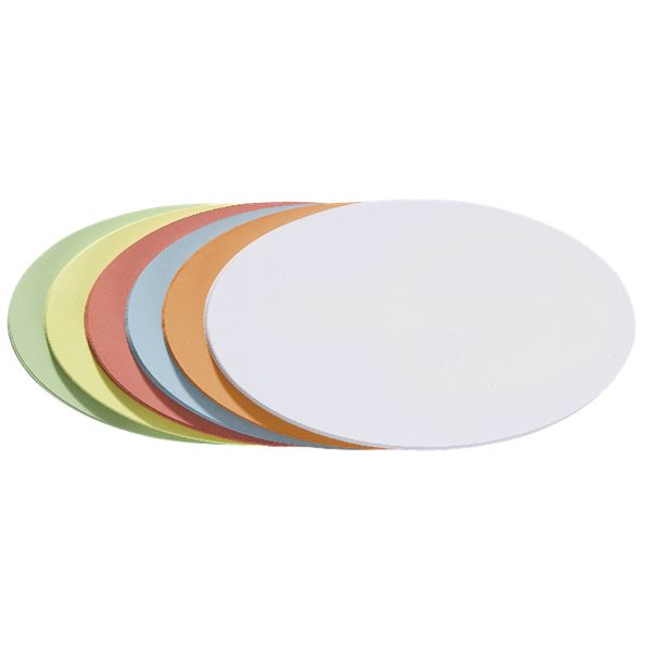 Franken Moderationskarte Oval - 250 Stück