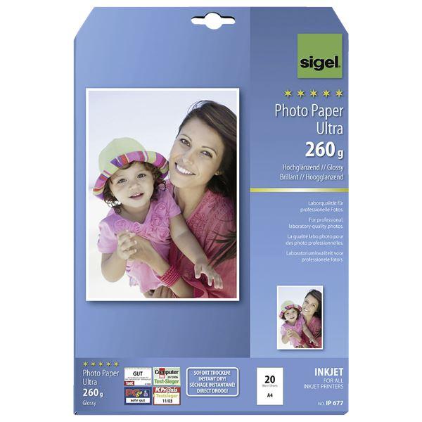 Sigel DIN A4 Inkjet Fotopapier Ultra IP 6677 - 20 Blatt