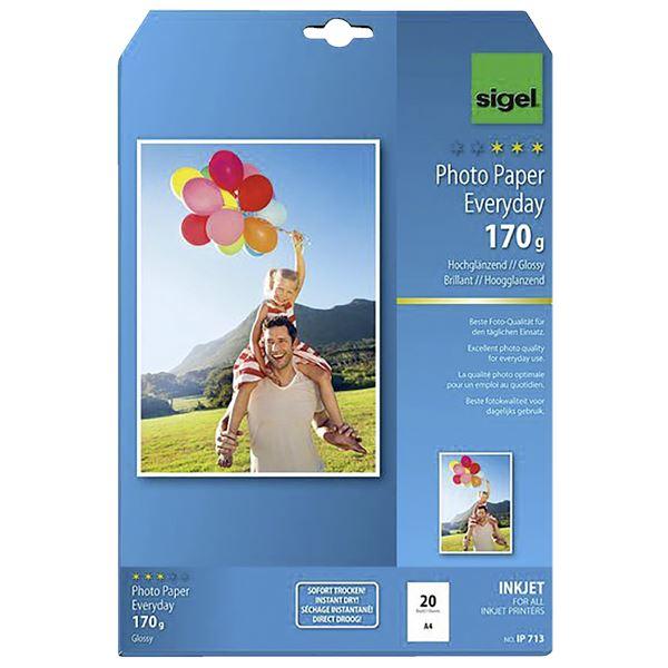 Sigel DIN A4 Inkjet Fotopapier Everyday IP 713 - 20 Blatt