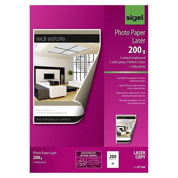 Sigel DIN A4 Fotopapier für Farb-Laser/-Kopierer LP 344 - 200 Blatt