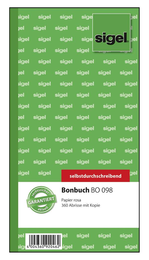 Sigel Bonbuch BO098 - 360 Abrisse