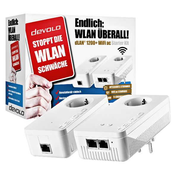 Devolo dLAN 1200+ WiFi ac Powerline Starter Kit