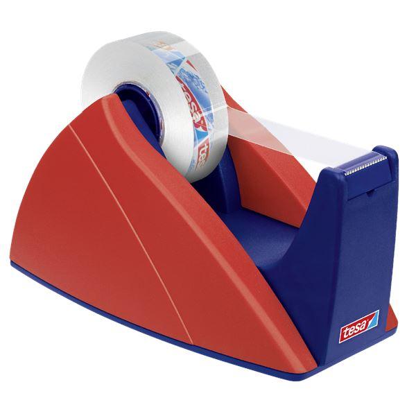 Tesa Easy Cut Tischabroller Blau, Rot