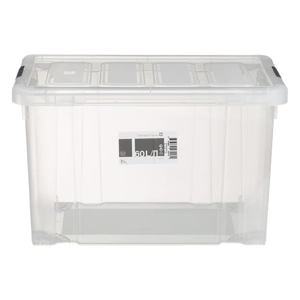 Tarrington House Clear Box mit Deckel 60 l