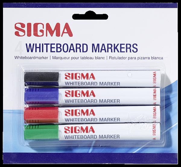 Sigma Whiteboardmarker Farbig sortiert - 4 Stück