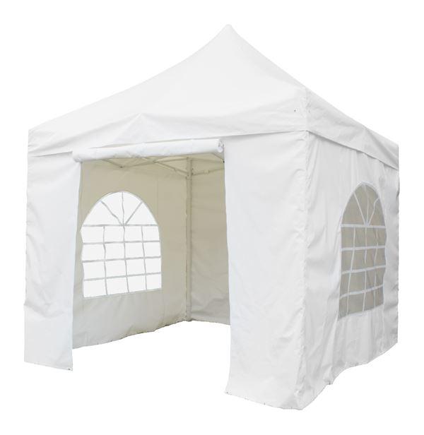 H-Line Faltpavillon 3 x 3 m Weiß