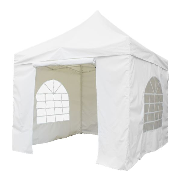 H-Line Faltpavillon 3x3m Weiß