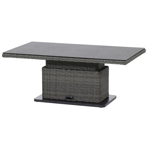 Creative Living Madrid Tisch Höhenverstellbar Grau