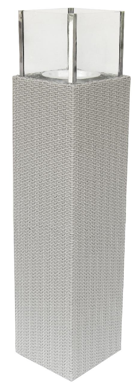 Tarrington House Athena Rattankerzenhalter 113 cm Off-White