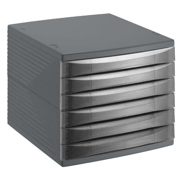 Rotho Bürobox Quadra 6 Schübe