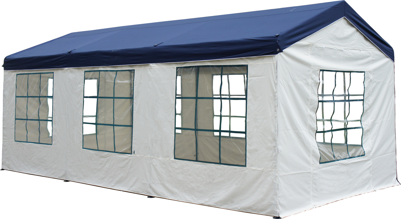 tarrington house pavillon four season 3 x 6 m blau wei pavillons festzelte sonnenschutz. Black Bedroom Furniture Sets. Home Design Ideas