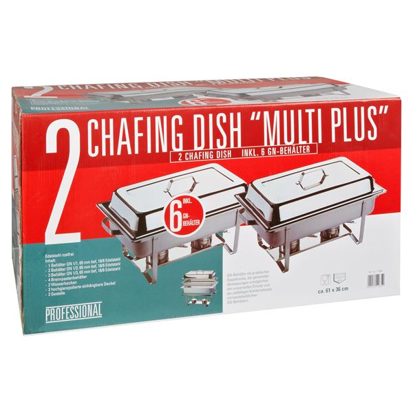 APS Chafing Dish Set 65 mm Tief - 1 Geschenkpackung