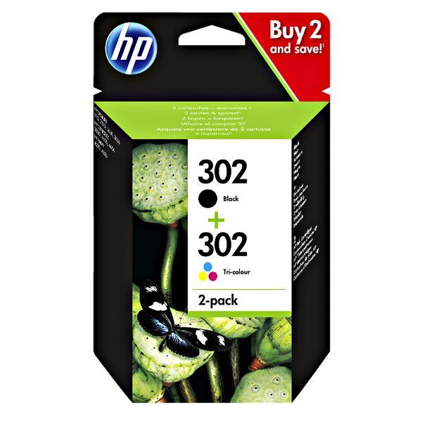 HP Tintenpatronen 302 Black/302 Tri-Colour Multipack