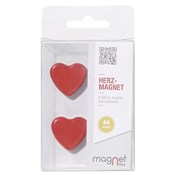 Magnet1956 Herz-Magnet - 2 Stück