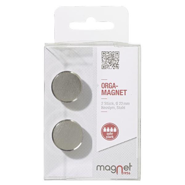 Magnet1956 Edelstahl-Magnet - 2 Stück