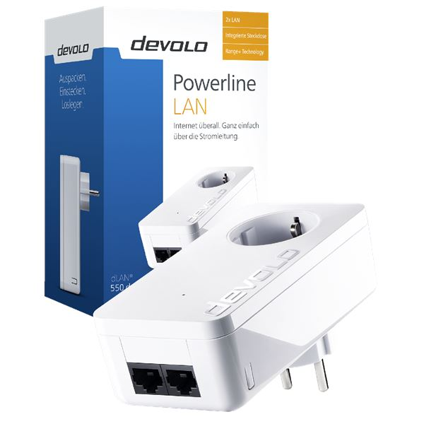 Devolo Powerline dLAN® 550 duo+