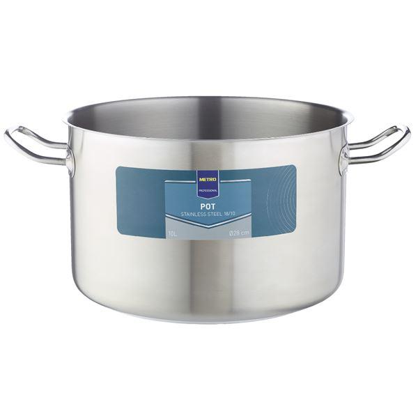 METRO Professional Edelstahlfleischtopf 10 l Ø 28 cm