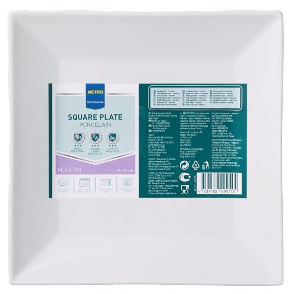 METRO Professional Platte eckig Modern 19  x  19 cm