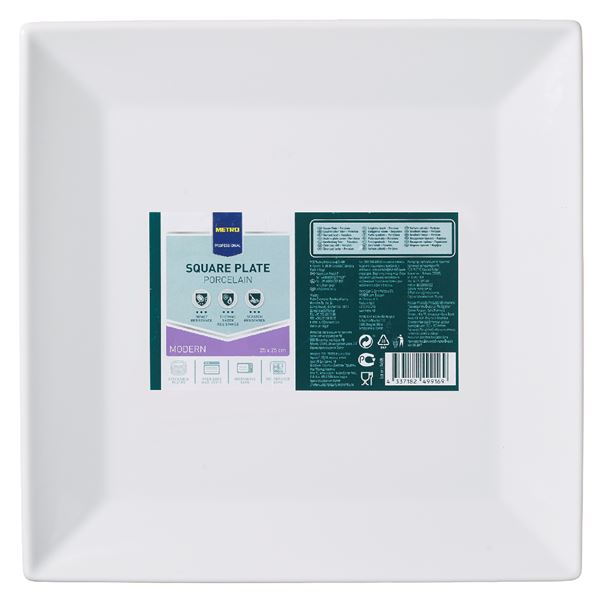 METRO Professional Platte eckig Modern 25  x  25 cm