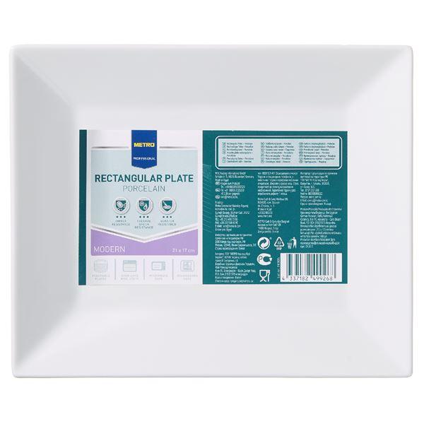 METRO Professional Platte rechteckig Modern 17  x  21 cm