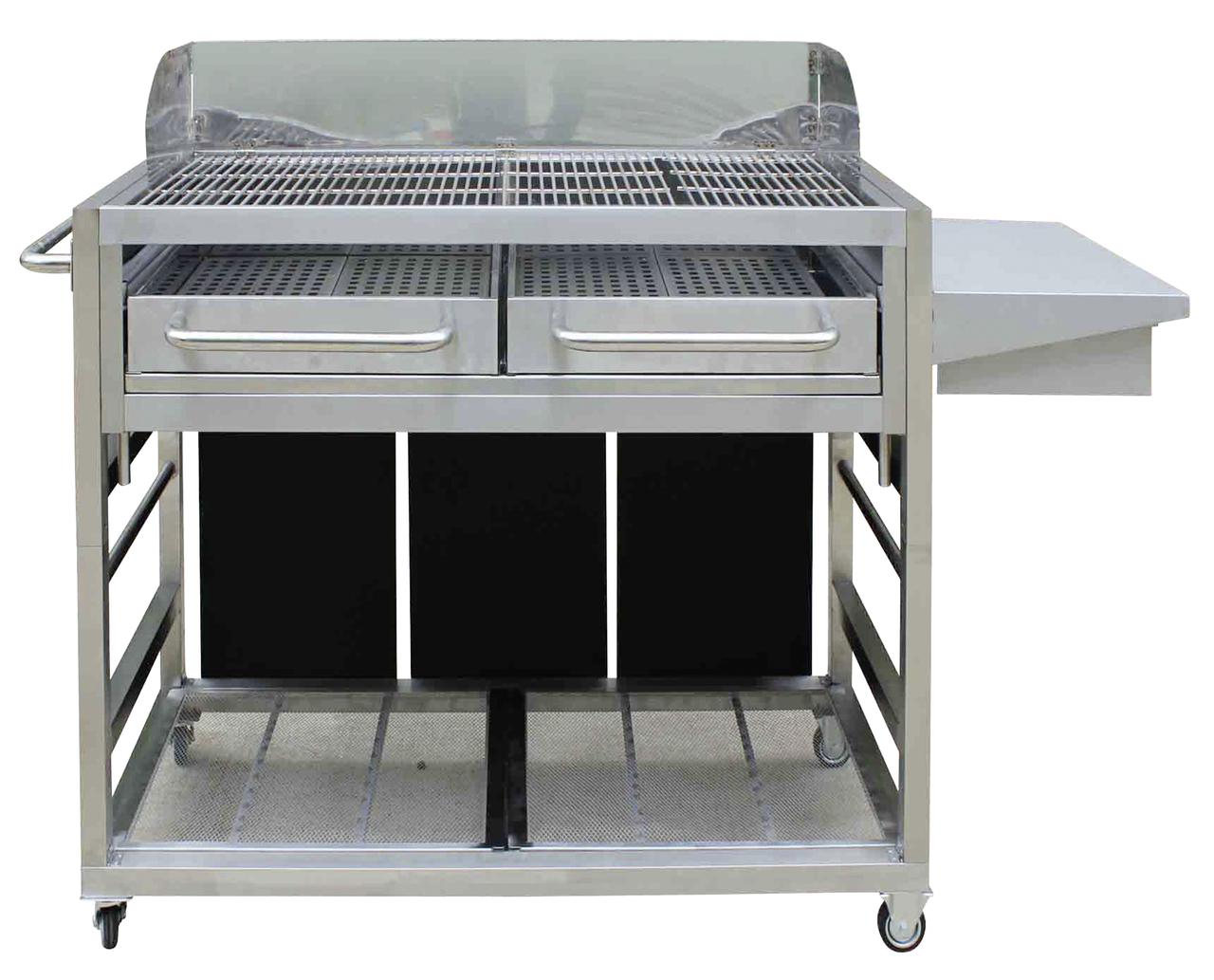 event holzkohle grillwagen edelstahl holzkohlegrills grillen metro. Black Bedroom Furniture Sets. Home Design Ideas