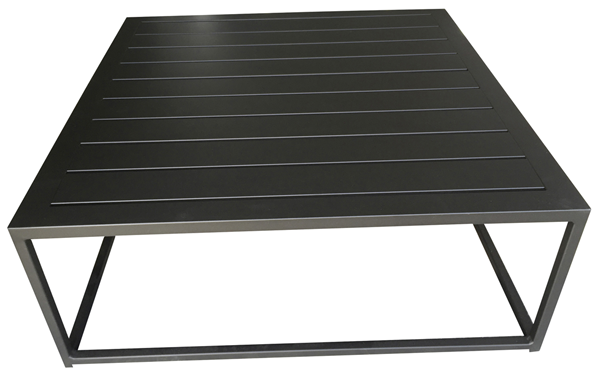 Divano Tisch Divano 70 x 70 cm Schwarz