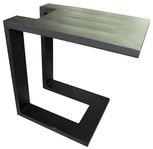 Divano Beistelltisch 48 x 32 cm Schwarz