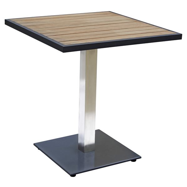 METRO Professional Tisch Teak Braun, Schwarz