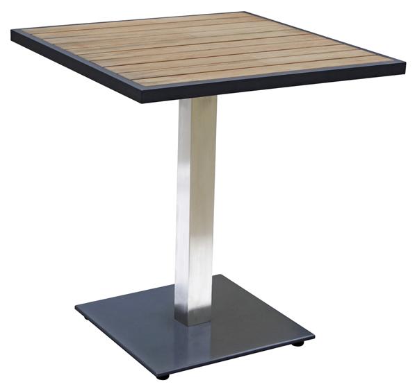 METRO Professional Tisch Teak 70 x 70 cm Schwarz