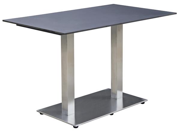 METRO Professional Tisch Milano 120 x 70 cm Schwarz