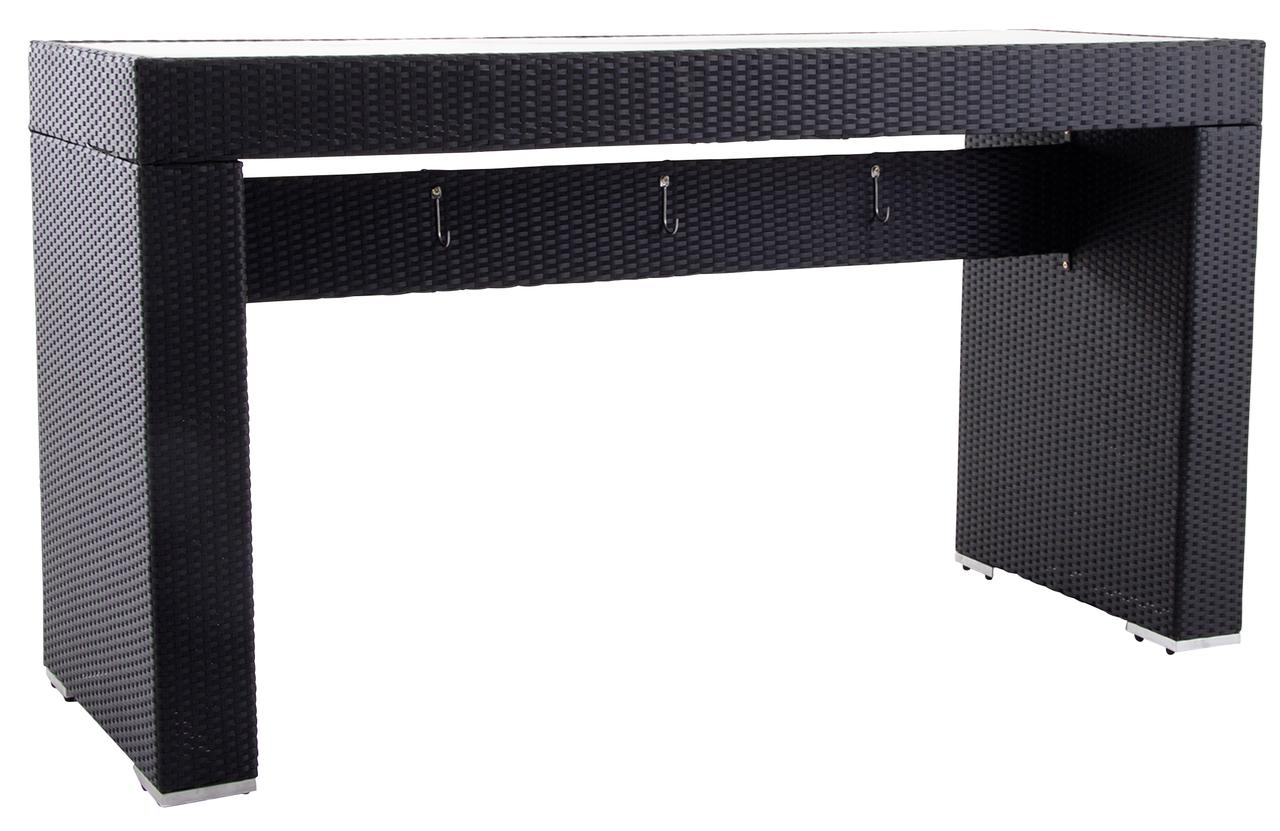 metro professional bartisch barbados 74 5 x 200 cm schwarz. Black Bedroom Furniture Sets. Home Design Ideas