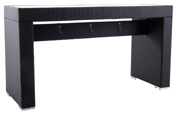 METRO Professional Bartisch Barbados 74,5 x 200 cm Schwarz