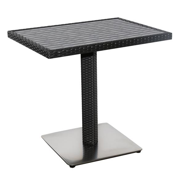METRO Professional Tisch Barbados 60 x 80 cm Schwarz